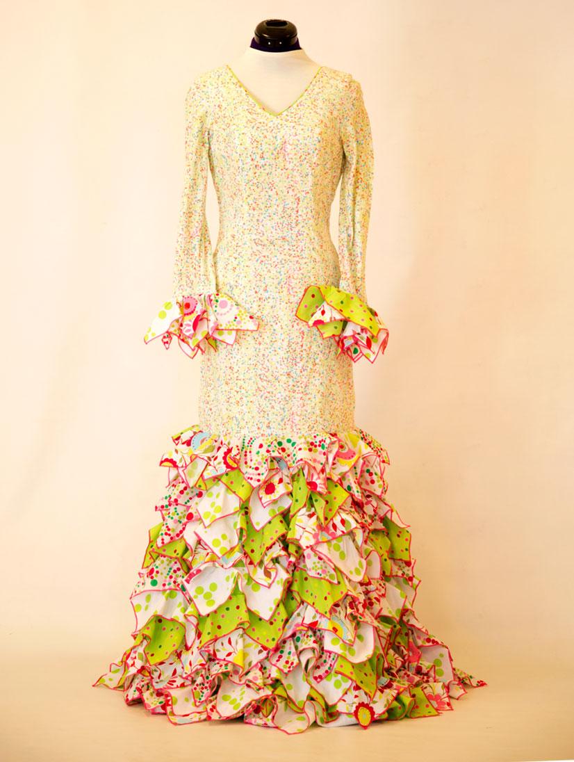 Traje de flamenca diseñador