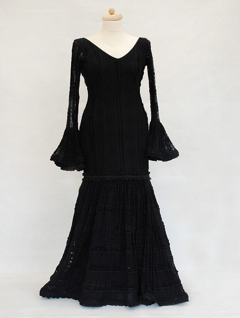 Traje de flamenca encaje negro