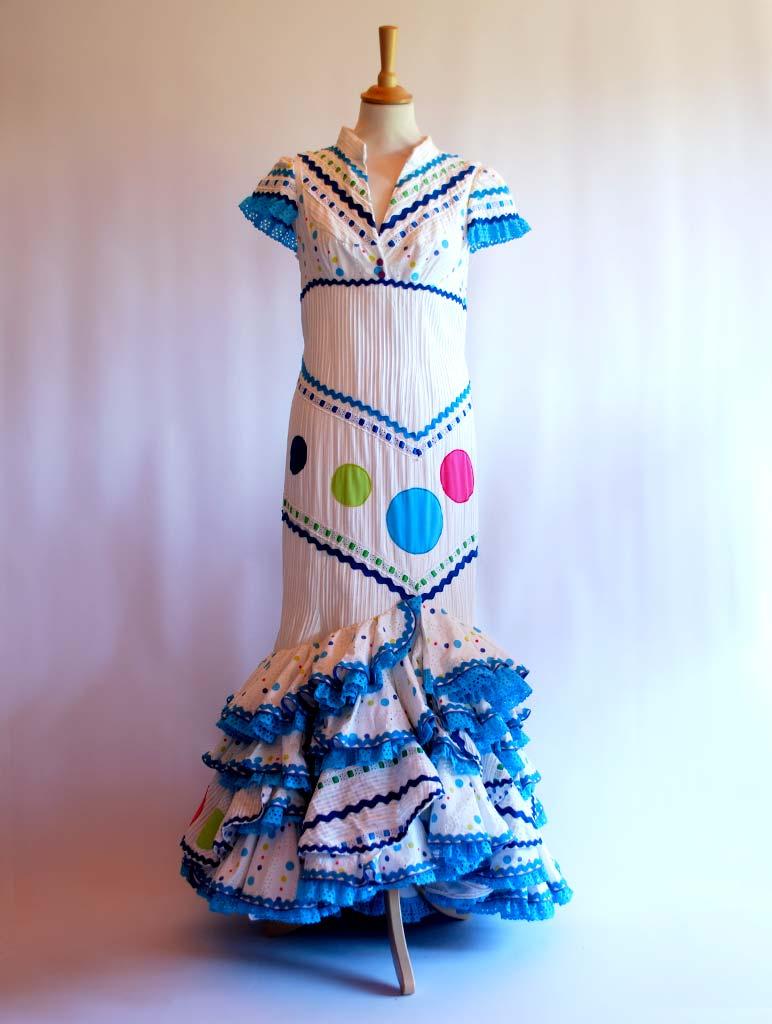 diseñador traje de flamenca