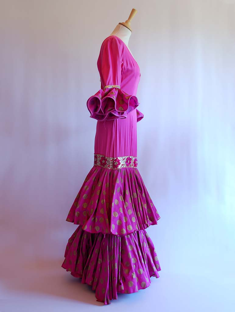 Alquiler Traje de flamenca Cira India | BeFlamenca