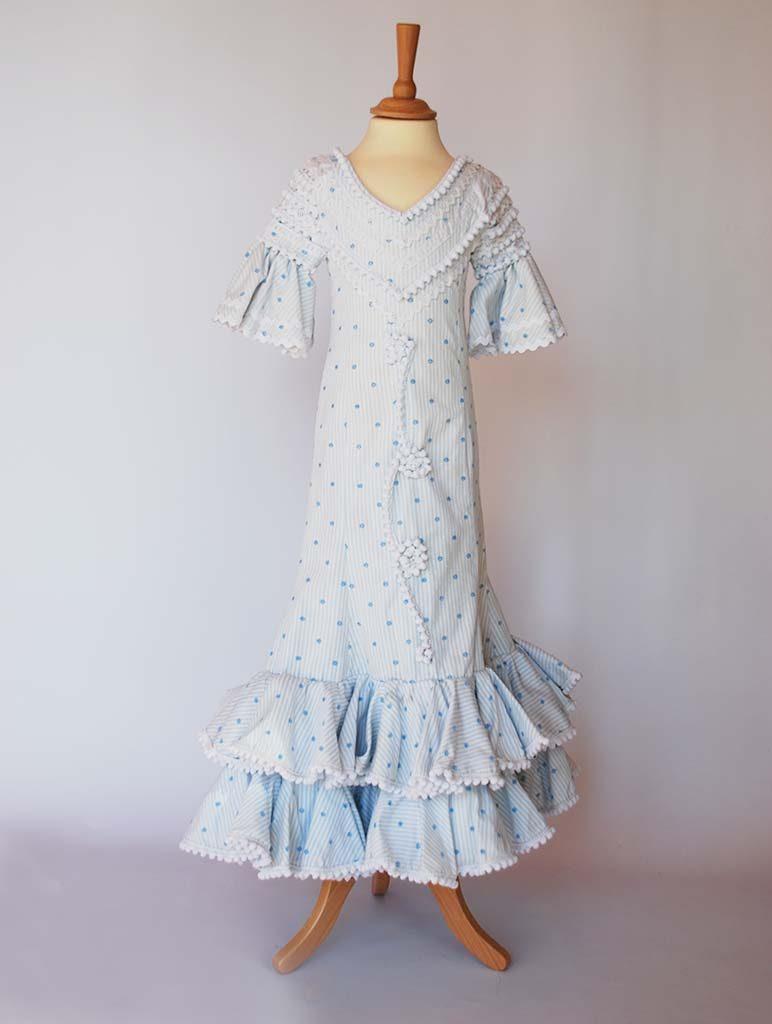 beflamenca. alquiler vestido sevillana niña