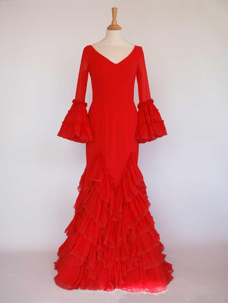 Vestido de flamenca diseñador Pilar Vera