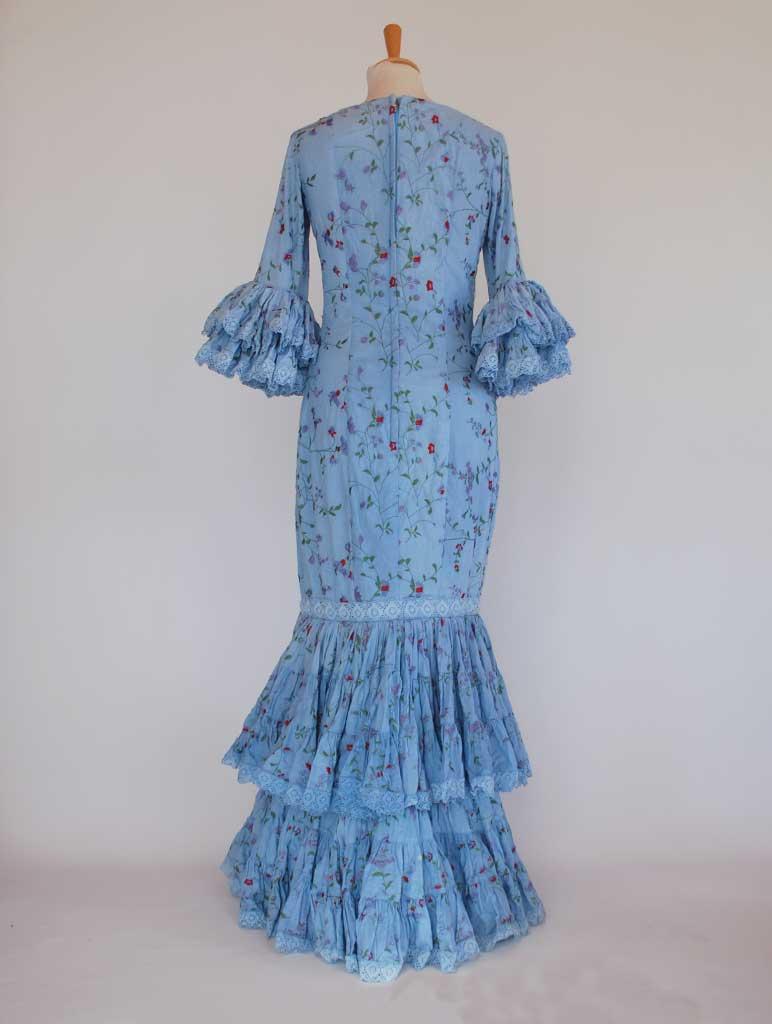 Elegante Traje de flamenca diseñador Pilar Vera