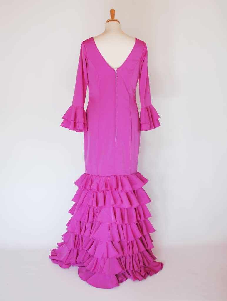 Traje de flamenca crespón buganvilla