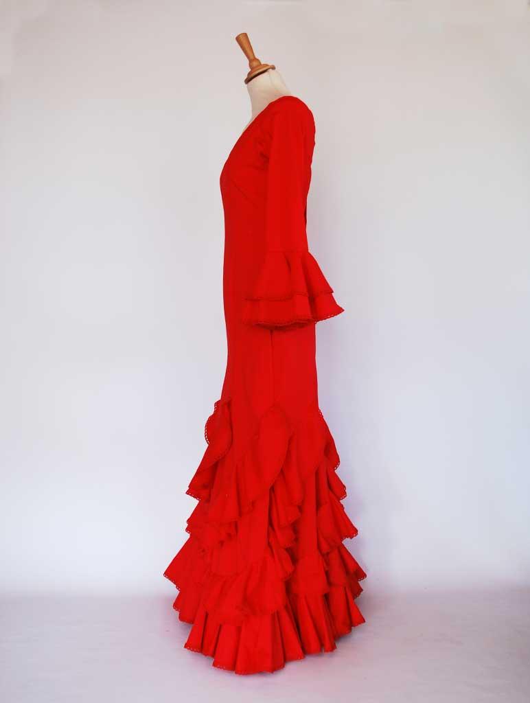 Alquiler traje de flamenca rojo